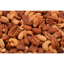 Texas Deluxe Nut Mix (Roasted/No Salt) - Cashews, Natural Whole Almonds, Pecans, Blanched Whole Almonds-1 lb.